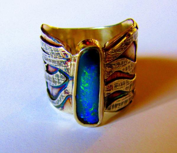 boulder opal ring 1