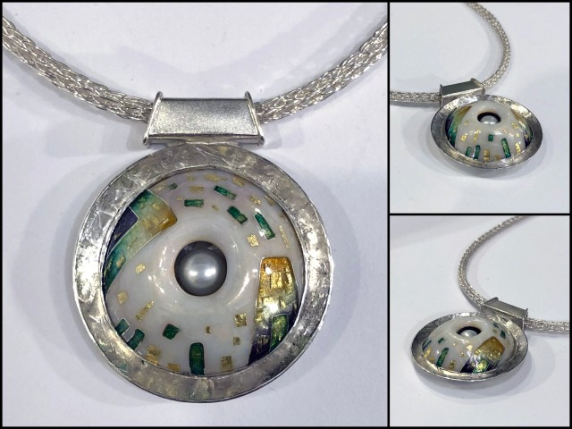 domed enamel necklace